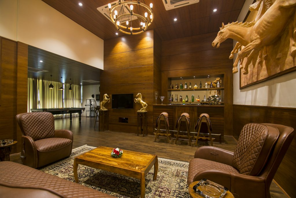Stunning hand crafted interiors fill this luxury villa in Nerul